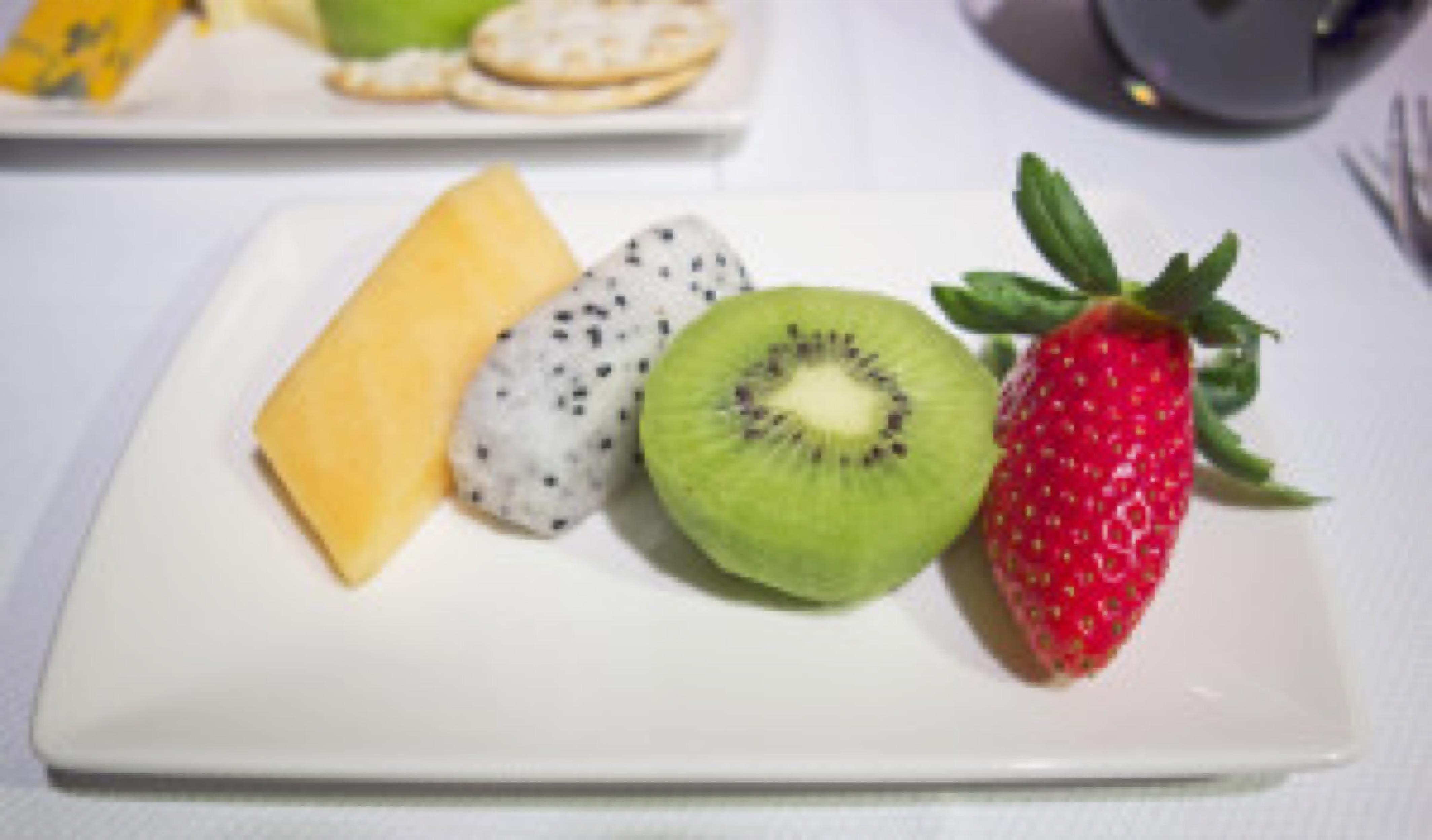Luxury sliced fruit plate