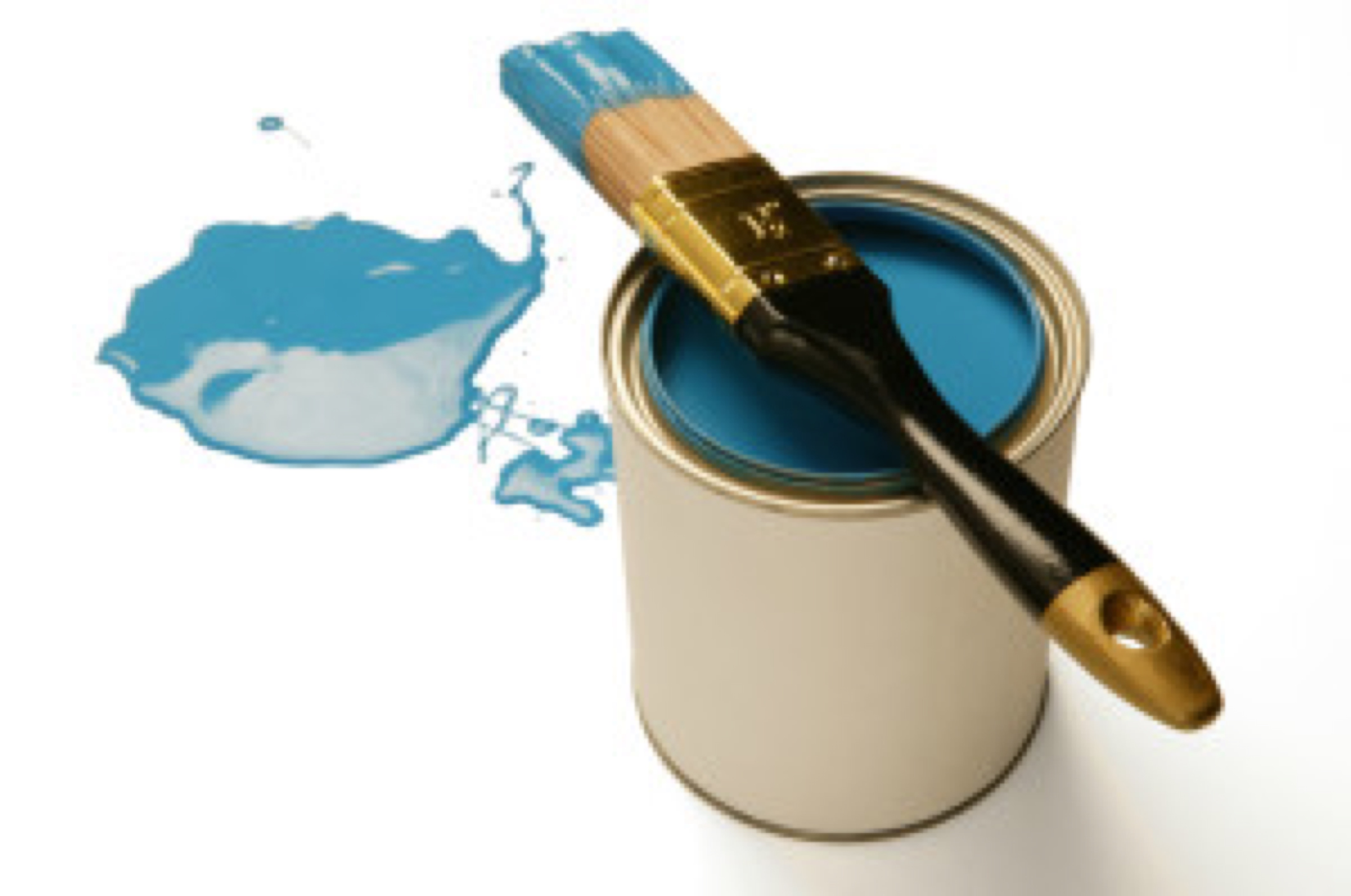 paintbrush and on can