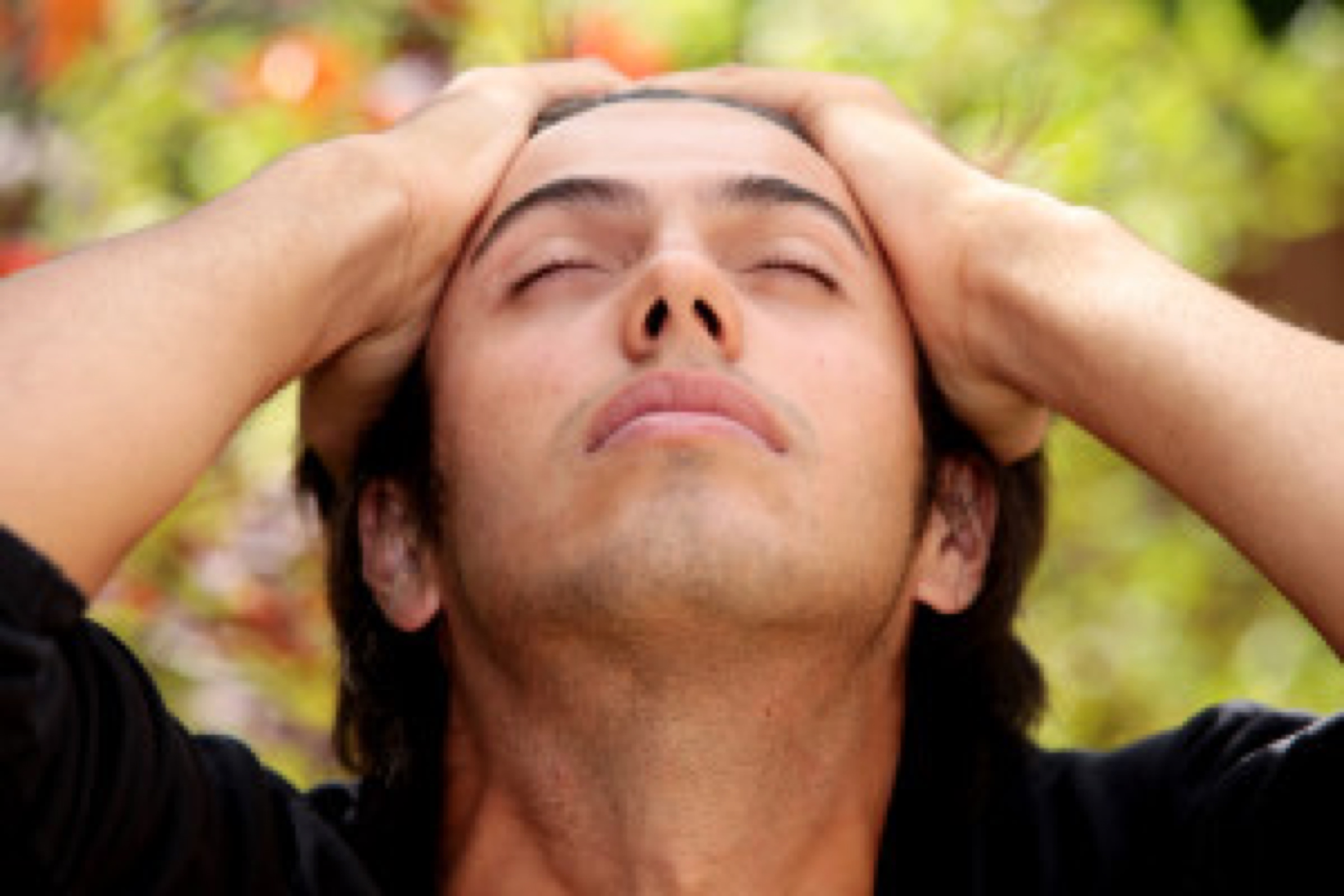 Stressed Young Man. Model Released