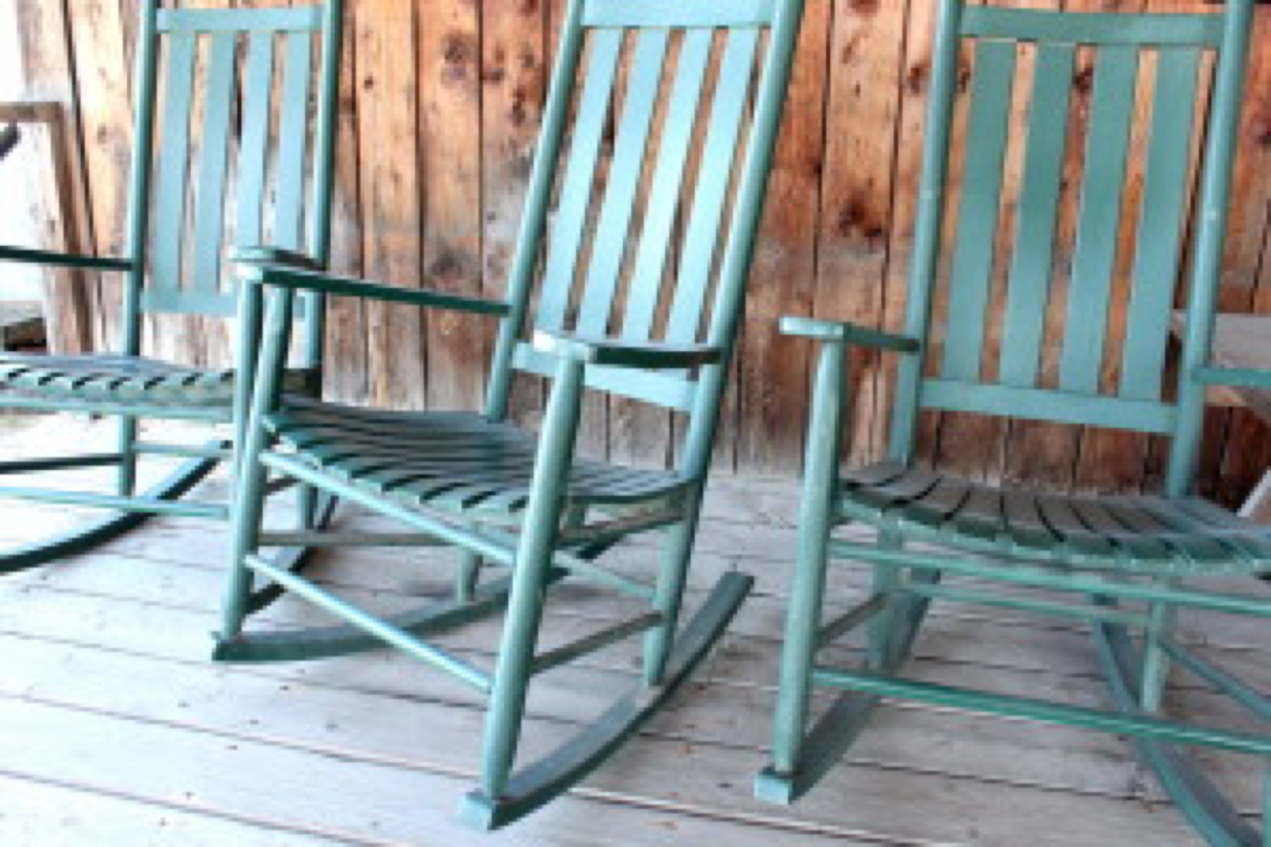 Rocking chairs on an old porch