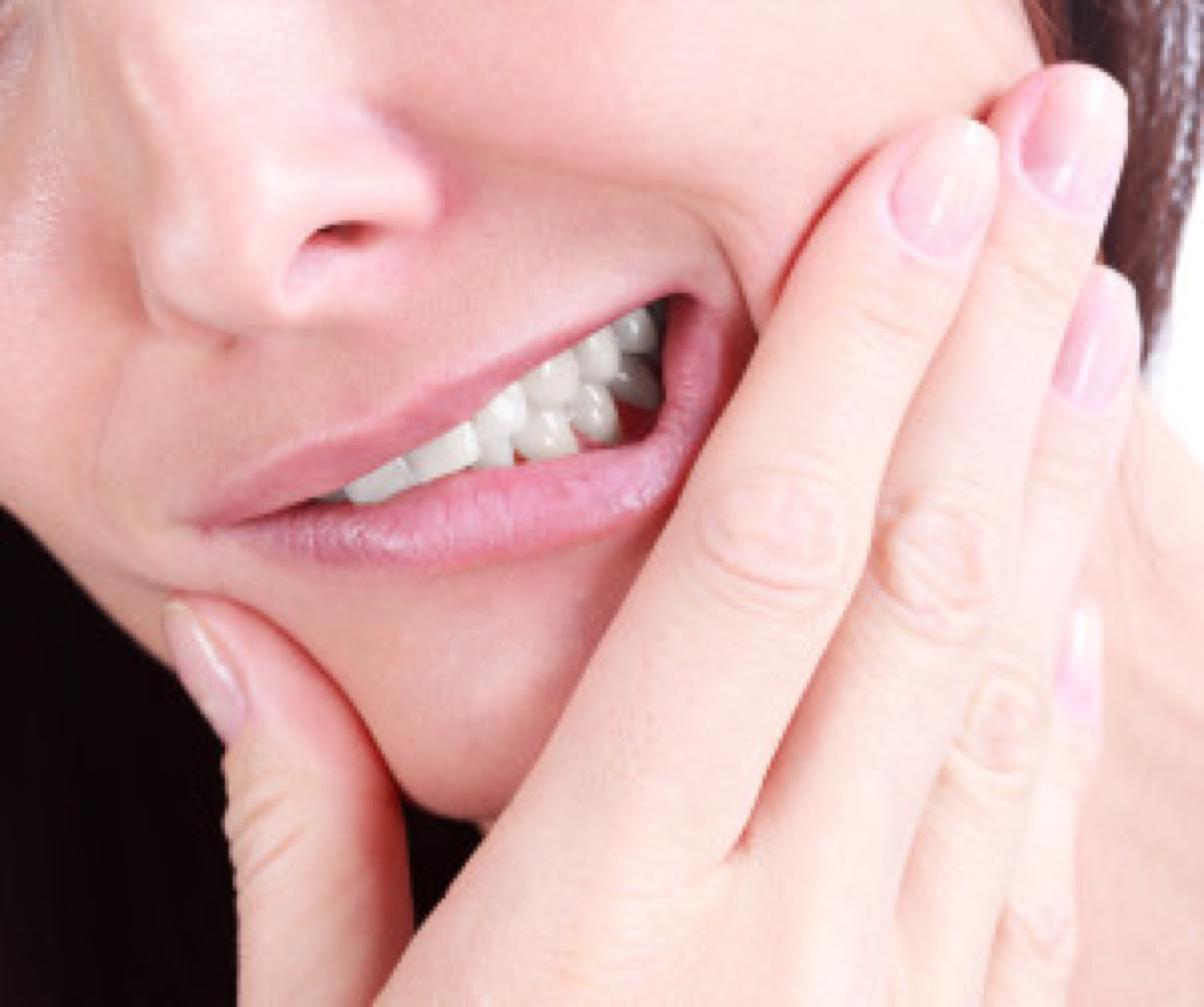 Woman with a tooth pain