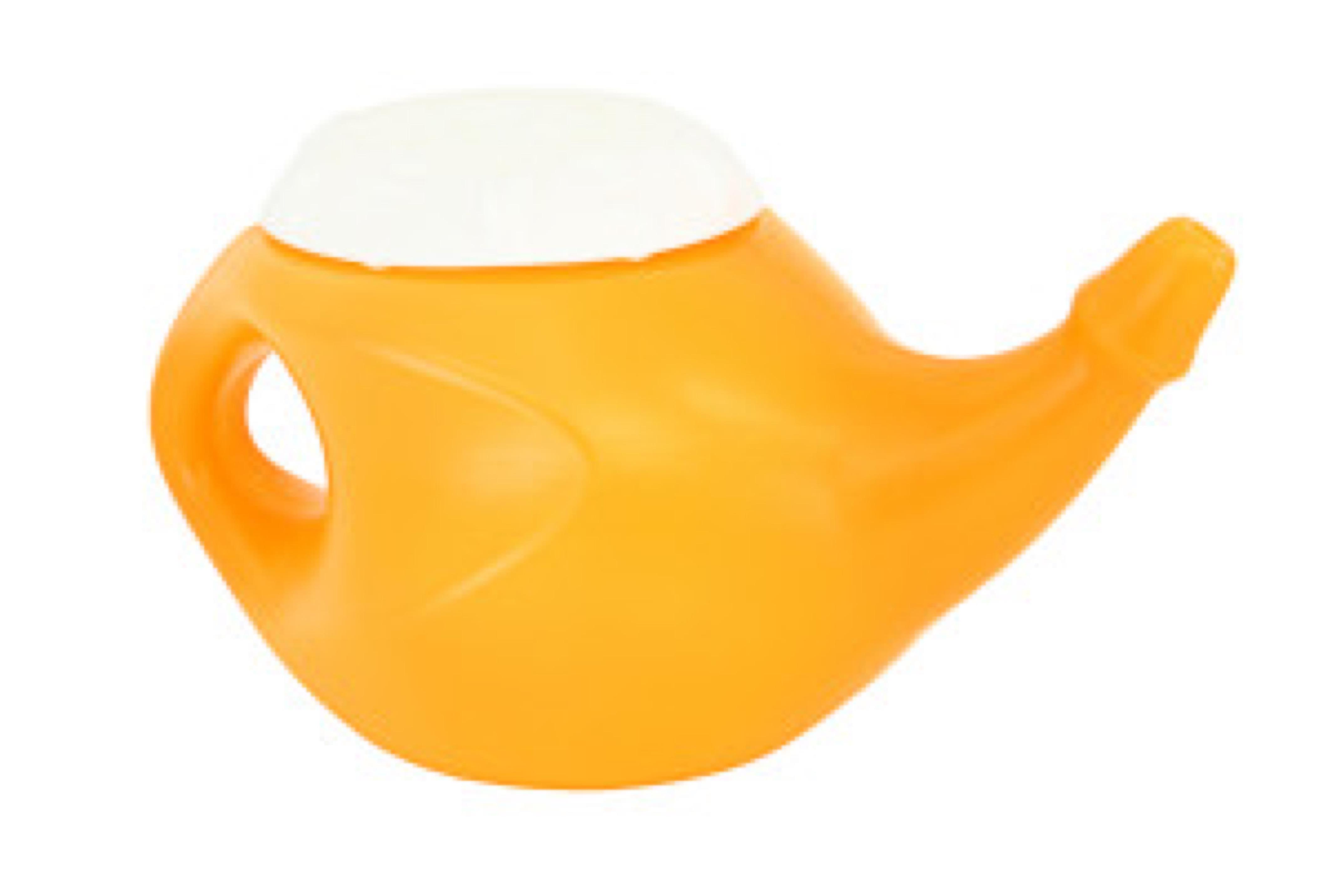 Orange Neti Pot
