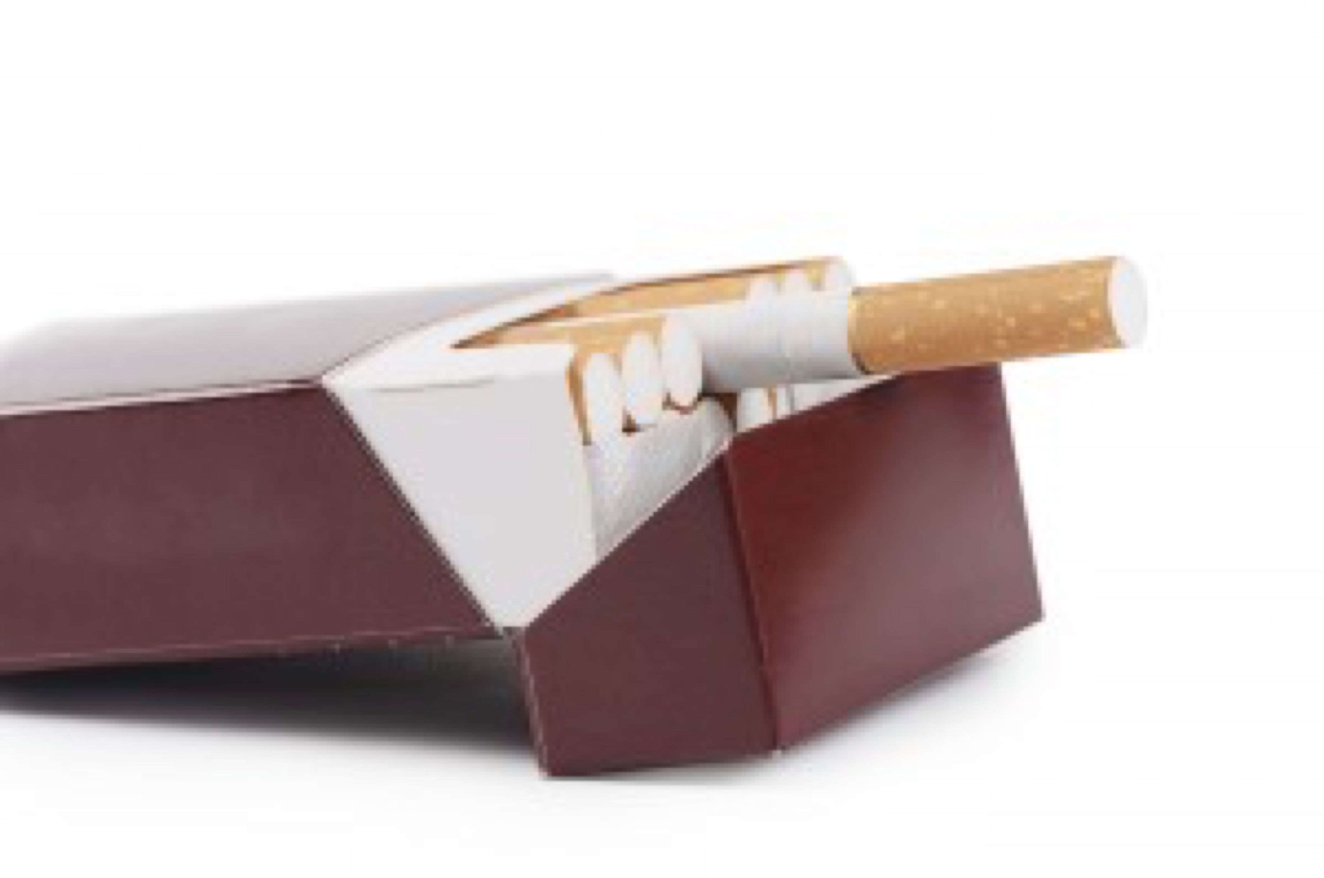 Box of cigarettes isolated on a white